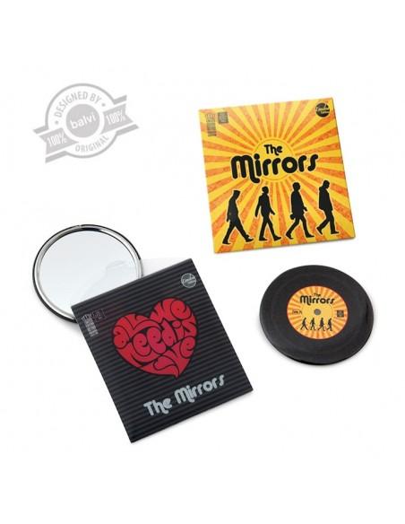 Specchio tascabile disco 45 giri in 2 alternative - THE MIRRORS by Balvi