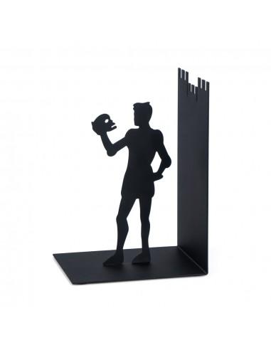 Fermalibri in metallo con sagoma di Amleto colore nero - HAMLET by Balvi