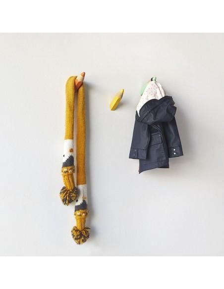 Set 3 Ganci appendiabiti da parete in legno colorato - COLOR PENCIL by Balvi