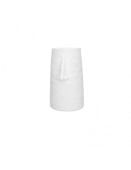 Vaso in terracotta colore bianco h 30 cm - NASONE by Rituali Domestici