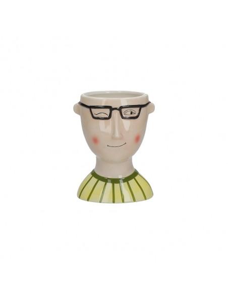 Portavaso in ceramica h 16 cm Mimmo - IROBINSON by Rituali Domestici