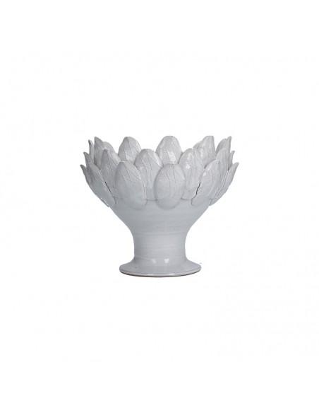 Vaso ciotola decorativa pumo in terracotta bianca - ANIMA by Rituali Domestici