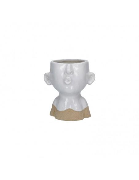 Portavaso testa che fischia in ceramica h 17 cm - EIOFISCHIO M by Rituali Domestici