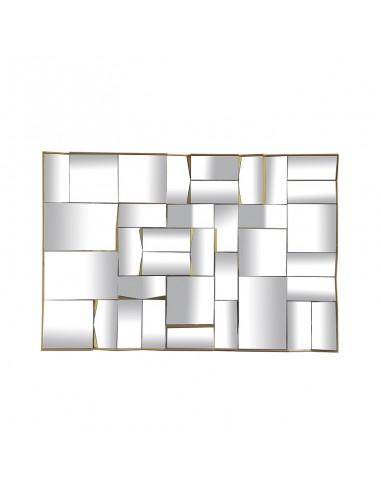 Specchio sfaccettato cornice dorata 61x91 cm - POLARIS L by Rituali Domestici