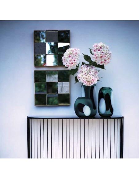 Specchio sfaccettato cornice dorata 40x40 cm - POLARIS s by Rituali Domestici