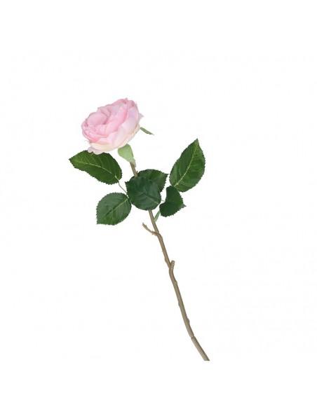 Rosa artificiale real touch colore rosa h 51 cm - FIORILE by Rituali Domestici