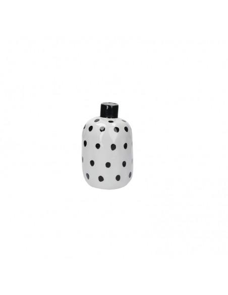 Vaso bottiglia porcellana pois neri h 15 cm - PUNTINISMO by rituali domestici