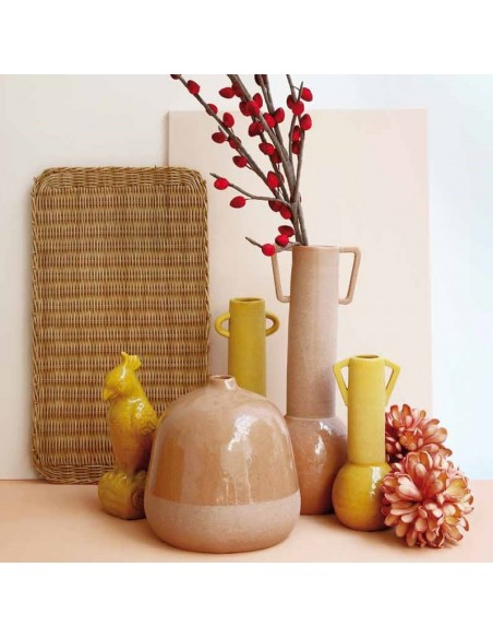 Anfora decorativa ceramica ocra h 34,5 cm - FRIDA by Rituali Domestici