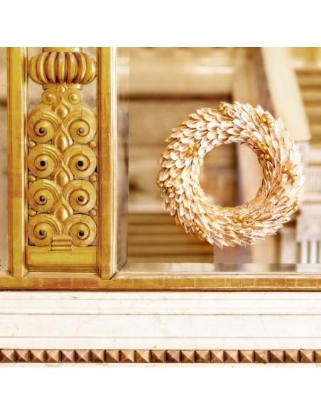 Ghirlanda con petali di cotone diametro 36 cm - MERAVIGLIA by Rituali Domestici