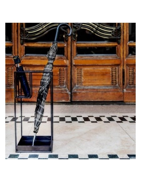 Portaombrelli in metallo colore nero h 55 cm - DARIA by Rituali Domestici