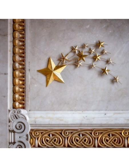 Decorazione stella cometa in metallo dorato L 50 cm - STELLASTELLINA by Rituali Domestici