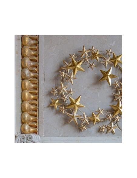 Ghirlanda di stelle in metallo dorato diam 44 cm - STELLASTELLINA L by Rituali Domestici