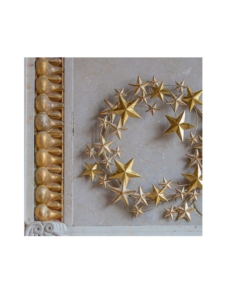 Ghirlanda di stelle dorata in metallo diam 31 cm - STELLASTELLINA M by Rituali Domestici