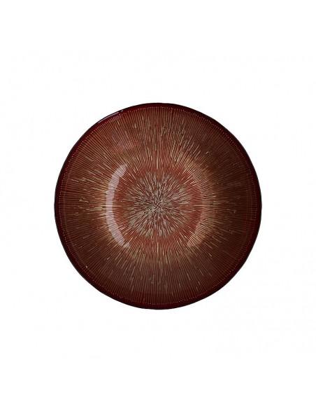 Centrotavola in vetro rosso/oro diam 33 cm - MIDA by Rituali Domestici