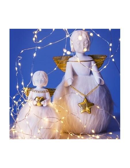 Statuina angelo in resina con stella h 29 cm - PARADISO by Rituali Domestici