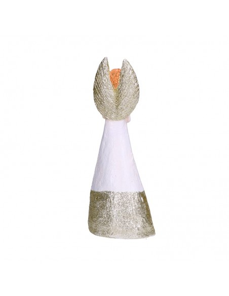 Statua angelo in resina con abito bianco h 36 cm - GRETA L by Rituali Domestici