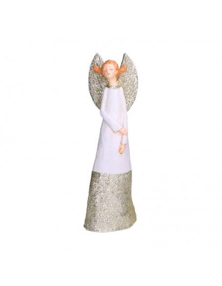 Statua angelo in resina con abito bianco h 27 cm - GRETA S by Rituali Domestici