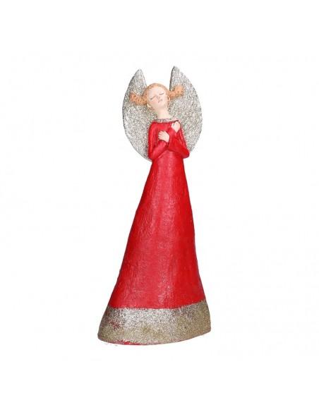 Statua angelo in resina con abito rosso h 40 cm - GRETA XL by Rituali Domestici