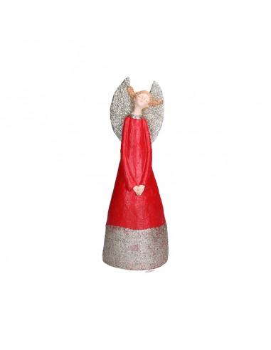 Statua angelo in resina con abito rosso h 32 cm - GRETA M by Rituali Domestici
