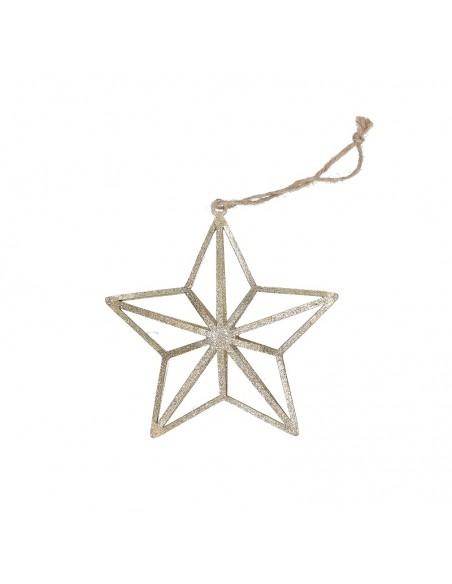 Stella da appendere in metallo 2 decori a scelta h 13 cm - STELLATA by Rituali Domestici