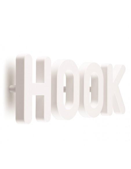 Set 4 ganci appendiabiti da parete colore bianco - HOOK by Qualy