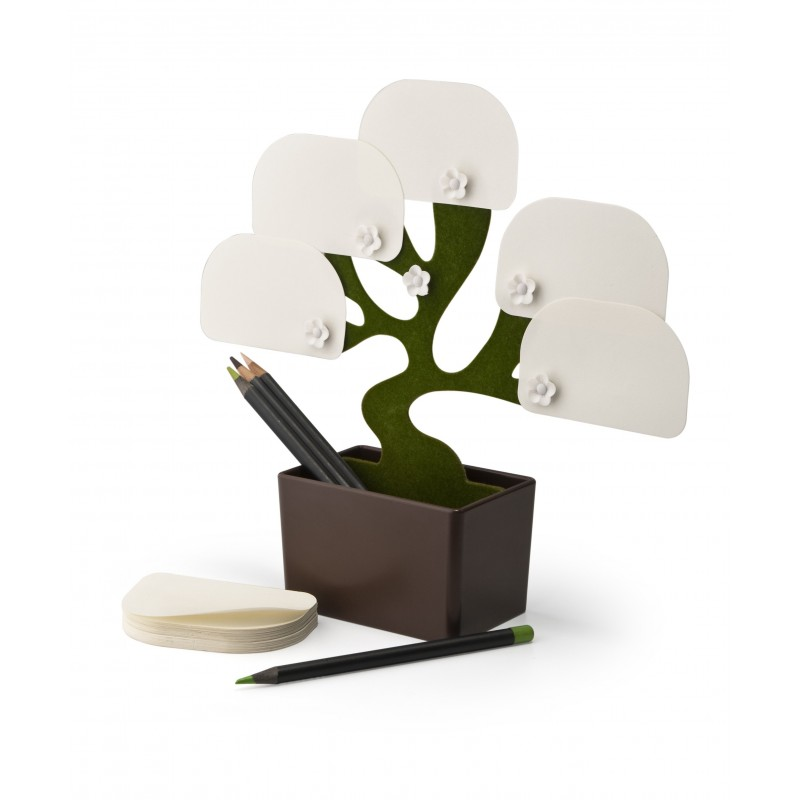 Porta appunti con contenitore - Bonsai by QUALY