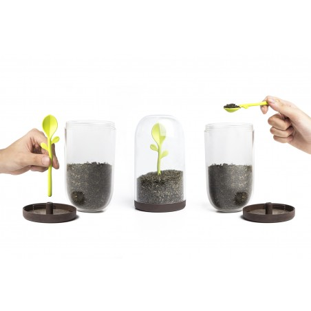 Barattolo caffè o zucchero + cucchiaino - SPROUT JAR by Qualy