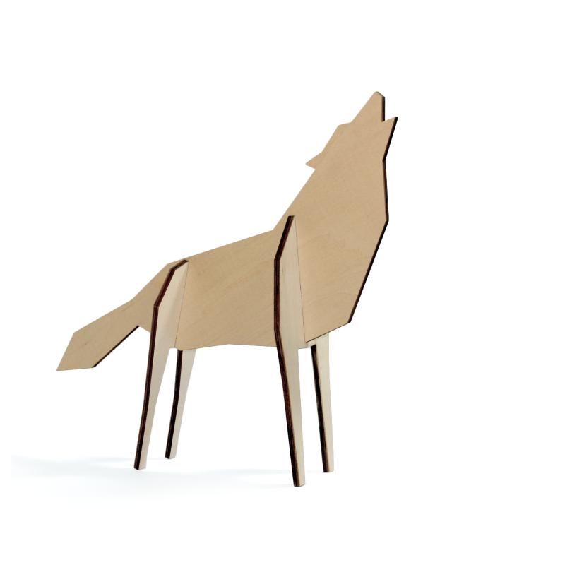 Decorazione figura di Lupo 2 varianti dimensione - NORDIC  WOLF by ATELIER PIERRE