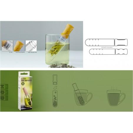 Infusore per il tè in vetro e legno - ELIXIR+ by SIMPLE LAB