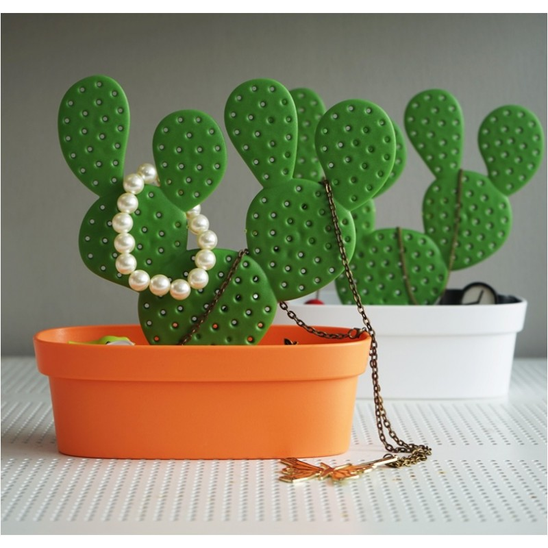 Portagioie cactus con contenitore in 2 alternative di colore - CACCESSORIES by QUALY DESIGN