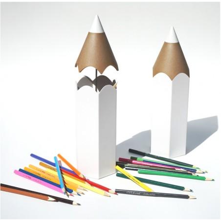 Contenitore per penne e matite colore bianco - DINSOR by QUALY DESIGNN