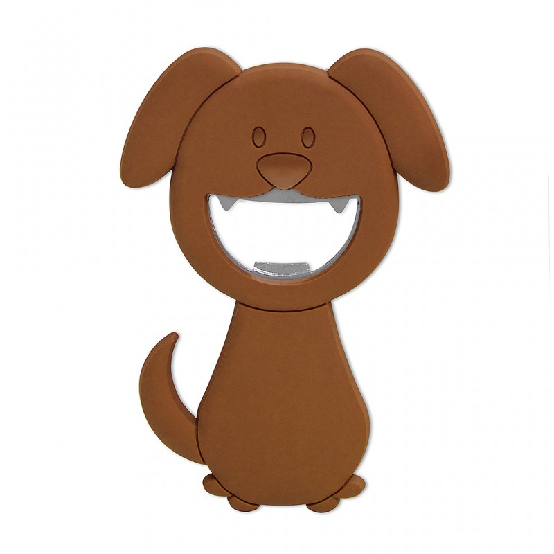 Apribottiglie magnetico cane marrone WOOF di Balvi
