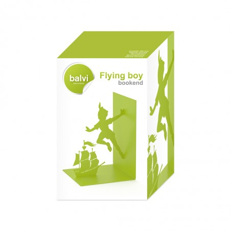 Fermalibri in metallo colore verde - FLYING BOY by BALVI