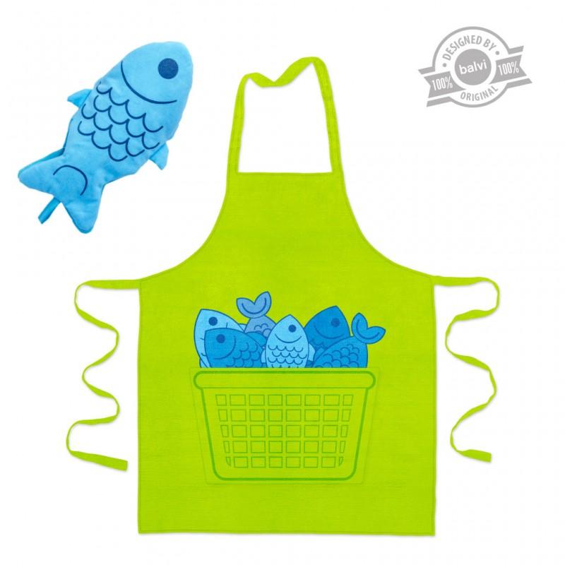 Set grembiule e guanto cucina - BLUE FIN by BALVI