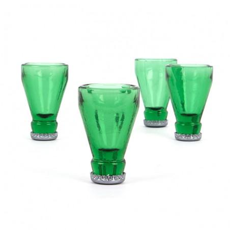 Bicchierini vetro x4 - BOTTLE TOP  di Balvi