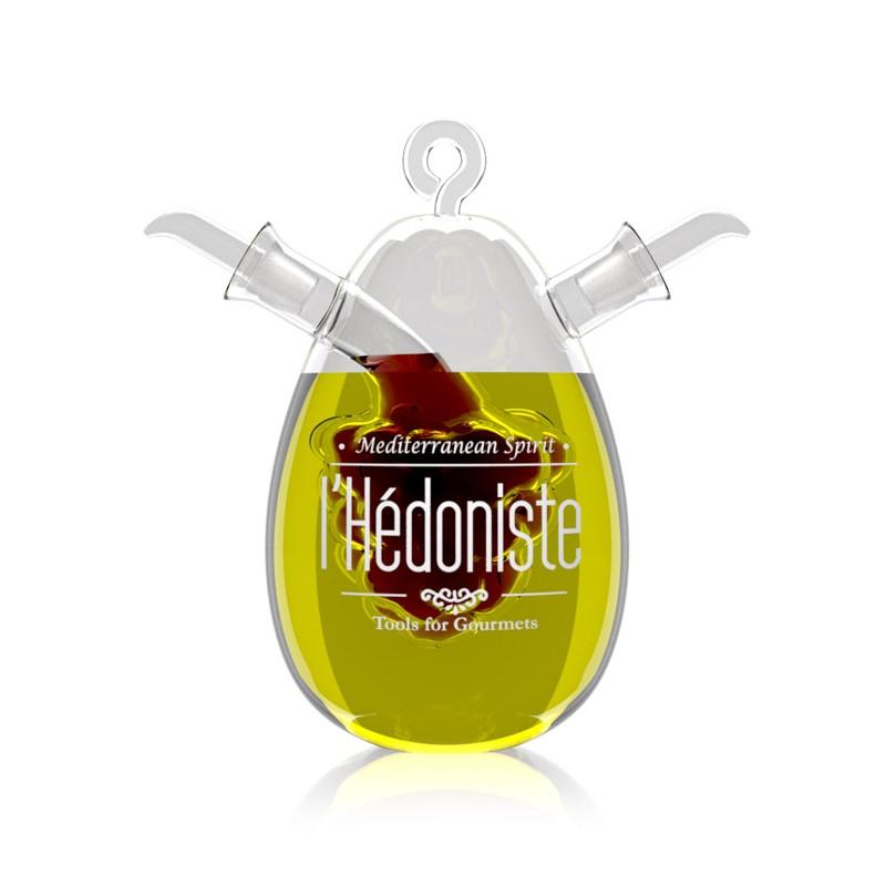 Oliera doppia in vetro - linea L'HEDONISTE by BALVI