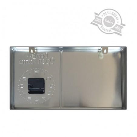 Orologio da parete targa in metallo - MILK by BALVI