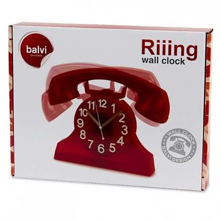 Orologio da parete con movimento colore rosso - RIIING by BALVI