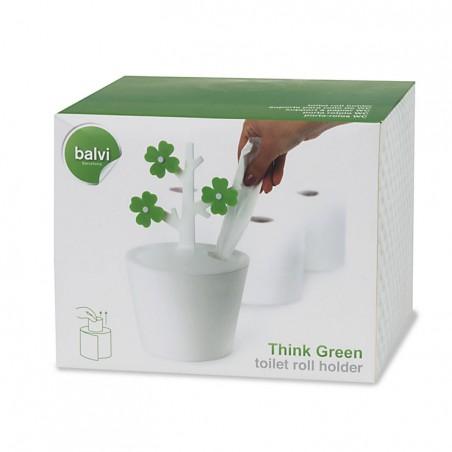 Porta carta igienica a forma di vaso di fiori - THINK GREEN by BALVI