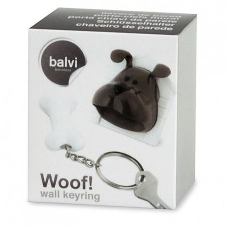 Portachiavi con gancio da parete cagnolino con casetta e osso - WOOF! by BALVI