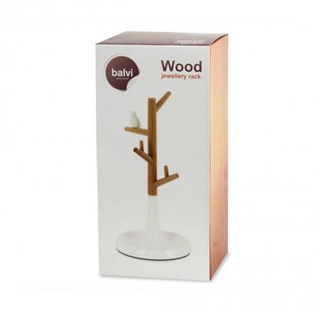 Porta bijoux in bamboo con piattino - WOOD by BALVI