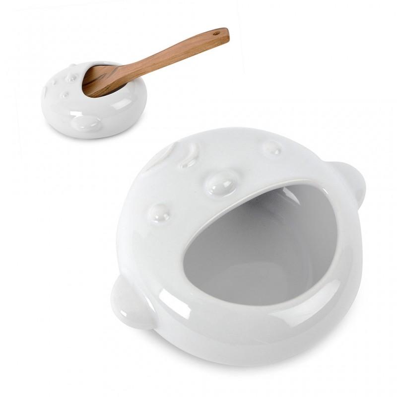 Appoggia cucchiaio in ceramica viso di bimbo - KIDDY by BALVI
