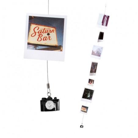 Portafoto multiplo cavo d'acciaio con magneti - SMILE! by BALVI