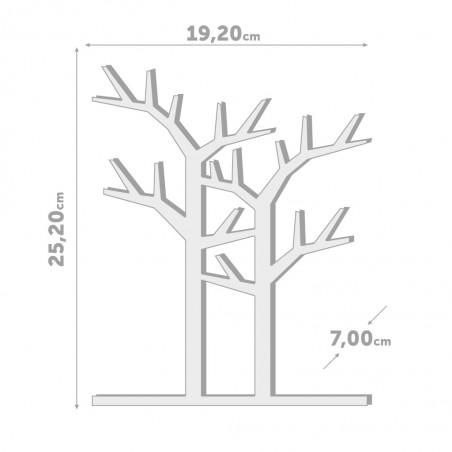 Portagioie da tavolo alberelli in legno rovere - FORET by BALVI