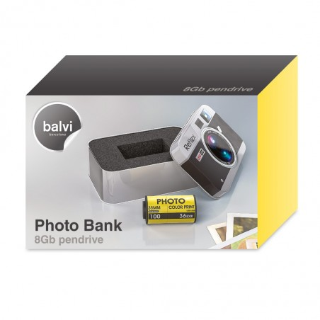 Pen drive USB da 8 Gb in scatola di metallo - PHOTO BANK di Balvi