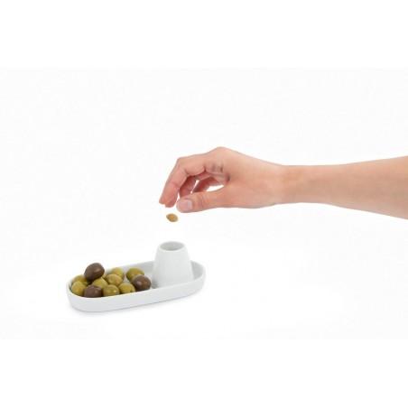 Piattino per olive in ceramica - VOLCANO by Balvi