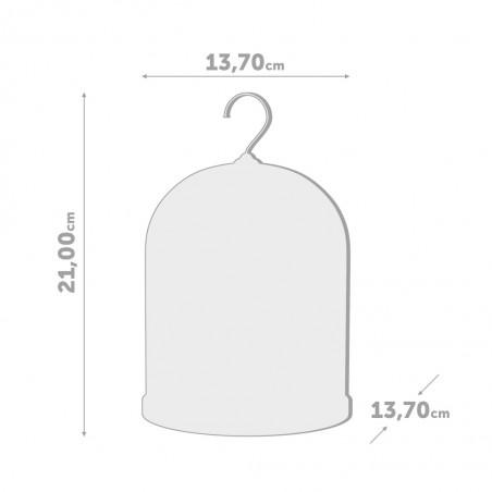 Porta carta igienica campana con uccellino colore bianco - BIRDIE by BALVI