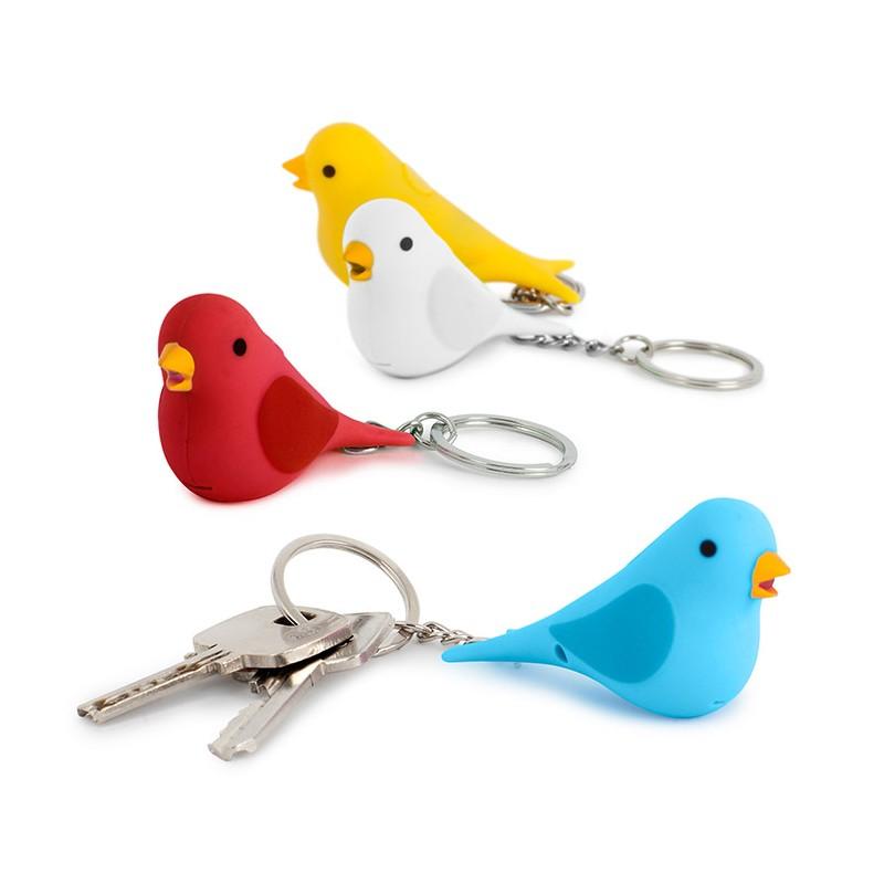 Portachiavi uccellino con effetto sonoro e luce led - TWEET by BALVI