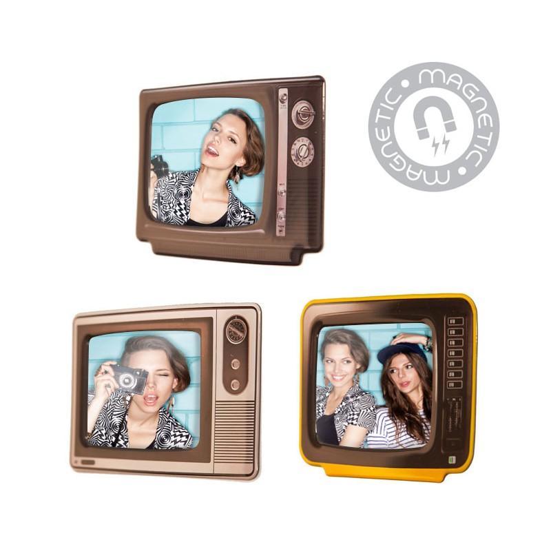 Set 3 Portafoto magnetici televisore vintage - CHANNEL by BALVI