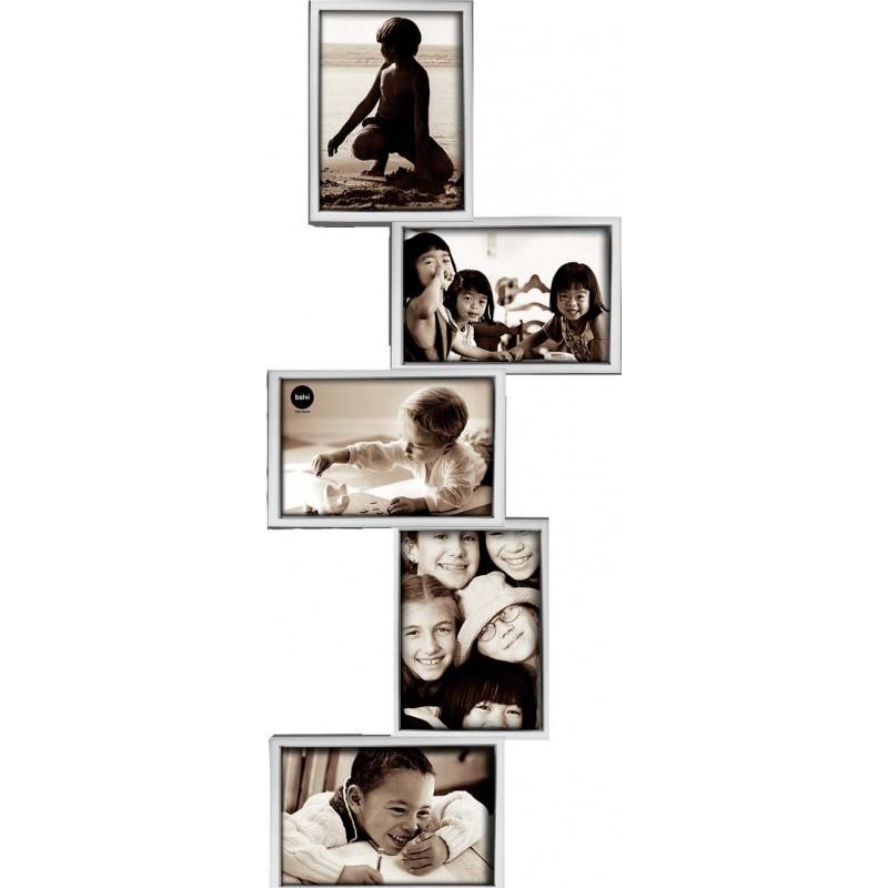 Portafoto multiplo da parete colore silver - ISERNIA by BALVI